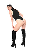 Irina Gubeva Ponytail In Boots istripper model